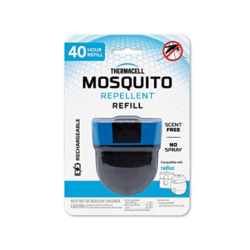 Thermacell Rechargeable Mosquito Repeller; Advanced Repellent Formula Provides 20' Protection Zone; Compatible E-Series & Radius Only; No DEET, Spray or Flame