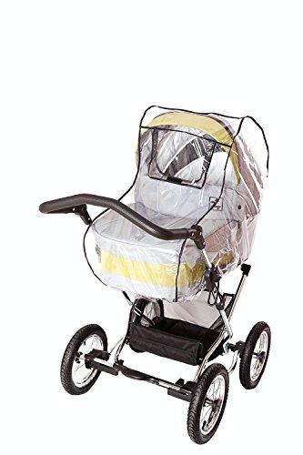 sunnybaby 20095 - Universal Regenverdeck, Regenschutz, COMFORT PLUS für Kinderwagen, Soft-Tragetasche | Kontaktfenster mit sturmfester Schutzklappe für optimale Luftzirkulation | MADE in GERMANY