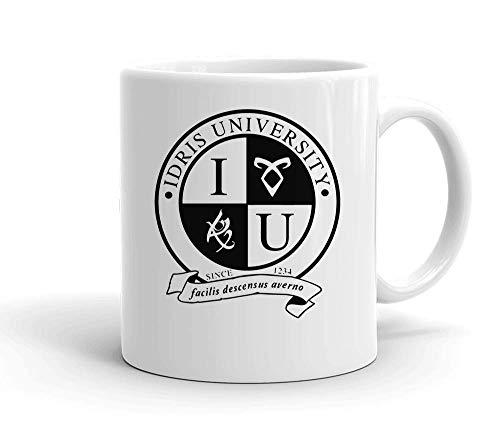 IDcommerce Idris University Tasse en Céramique Blanche pour Le Thé Et Le Café
