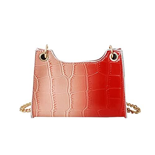 WEIBM Bolso bandolera de cadena de color degradado moda para mujer nuevo bolso de mensajero de hombro