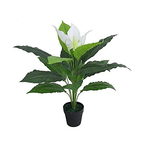 Pflanztöpfe Große, künstliche Pflanzen Palme Künstliche Pflanze Simulation Pflanze Topf Grünpflanzen Große Bonsai Indoor Wohnzimmer Dekoration, grüne Faux Pflanzen