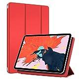 MS factory iPad Pro 12.9 2018 ケース マグネット装着 カバー アイパッド プロ 12.9インチ Apple Pencil ワイヤレス充電 対応 iPadPro12.9 第3世代 スマートカバー 薄型 オートスリープ 全6色 ブライト レッド 赤 IPDPRO3-S-MAG-RD