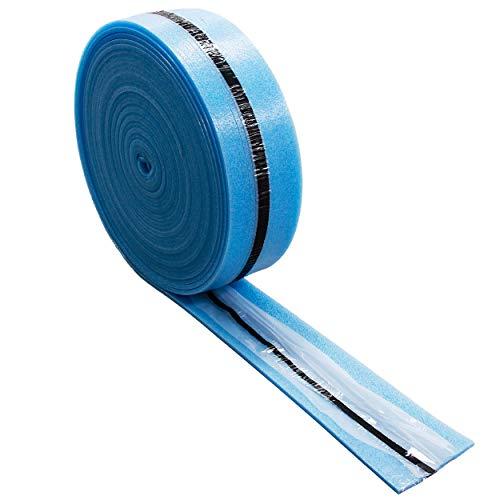 4 GROßROLLEN Randdämmstreifen 120mm MIT Folie UND selbstklebend je 25m (100m) für Fließestrich Estrich Randstreifen Randdämmung für Fußbodenheizung