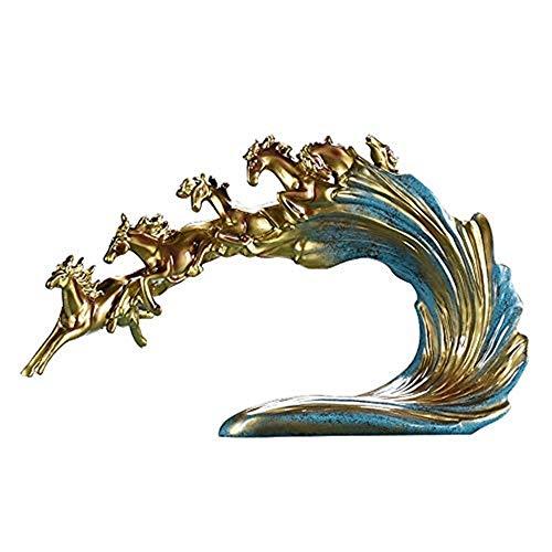 QYZHCP Manualidades Decorativas De Escritorio, Seis Caballos Europeos Decoración Joyas Salón TV Cajón Multifuncionales Artesanías Decorativas