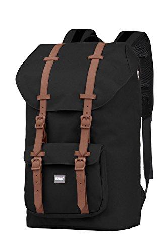 BLNBAG U2 - Rucksack mit gepolstertem Laptopfach, Reiserucksack Handgepäck 20 Liter, Leichter Backpack Unisex 46 cm – Schwarz, 15005006