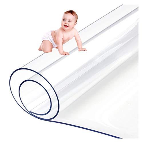 LSSB Estera De Protección Suelo Claro/Transparente PVC Plastico Manteles Impermeable Mesa Paño Cubierta para Oficina Mesa De Noche Cocina Cuarto, 3 Espesores (Color : Clear-1.5mm, Size : 100x100cm)