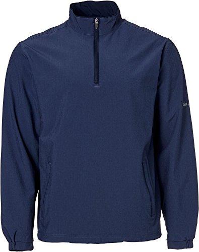 Walter Hagen Men's Front 9 Half-Zip Golf Pullover, (Navy, S)