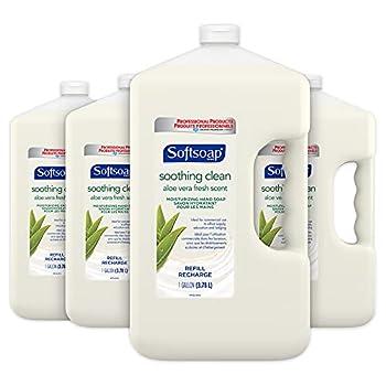 SOFTSOAP Hand Soap Refill Gallon  128 Fluid Ounces | Case of 4  Aloe Vera Fresh Scent - Moisturizing Liquid Hand Soap Refill Gallon - Bathroom Kitchen Soap - Breakroom & Office Supplies