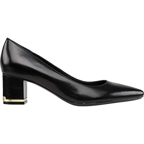 Calvin Klein Women's Nita Pump, Black Leather, 10