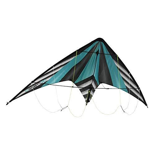 WindNSun Ez Sport 70 Polyester Ripstop Stripe Dual Control Sport Kite, Teal