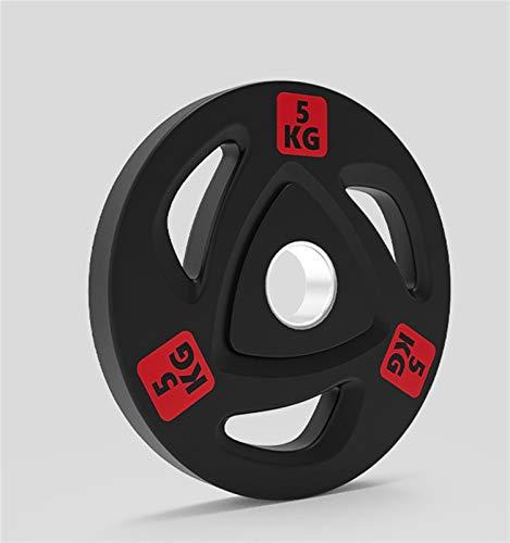 YQCH Placa de Peso de Hierro Fundido Recubrimiento de Goma Tri Grip Radial Precio Olímpico Olímpico Barbell Accesorios-5kg, 10kg, 15kg, 20kg, 25kg (Color : 5kg)