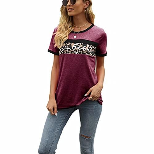 ZFQQ Camiseta Estampada Multicolor de Manga Corta para Mujer Primavera/Verano