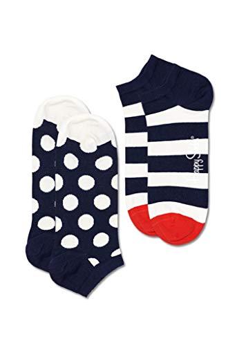 Happy Socks 2-PACK BIG DOT STRIPE LOW SOCK (36-40)