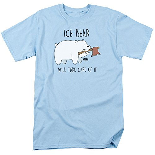 We Bare Bears Take Care of It Unisex Adult T Shirt for Men and Women Light Blue