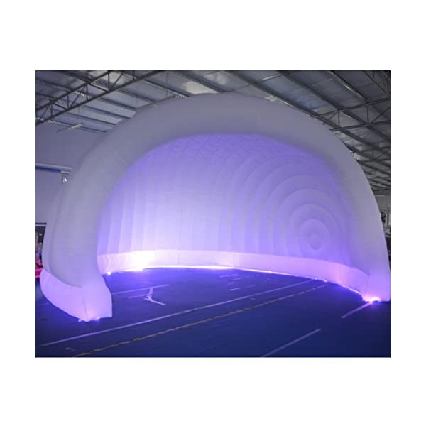 SAYOK Portable Inflatable Tent with LED Lights Inflatable Luna Pod (6x3.5mH) Inflatable Cover Structure with Air Blower…