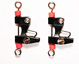 Bimini Lures Outrigger Release Clips Set of 2 Adjustable - Downrigger- Kite - Outrigger (Red Bead- 2 Clips!)