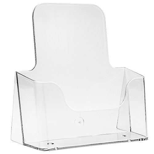 Tischaufsteller Prospekthalter Flyerbox DIN A5 - transparente Flyerständer Prospektständer
