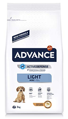 ADVANCE Light Adult Mini - Pienso Light Para Perros Adultos De Razas Pequeñas Con Pollo - 3 kg