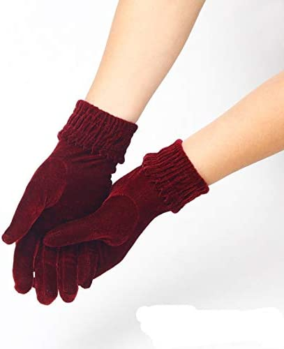 Gloves 1pair Woman Fashion Warm Satin Lady Solid Velvet Female Windproof Winter Soft Thermal Comfortable Gloves Mitten