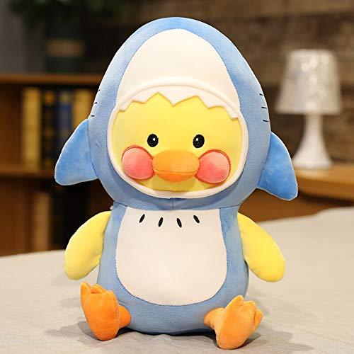 N / A Pato de Dibujos Animados Cosplay tiburón Langosta muñeco de Peluche Coreano Lindo Lalafanfan Pato Juguetes Suave Peluche Almohada Kawaii Regalo 45cm