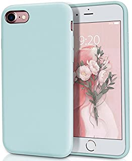 "MILPROX Silicone Case for iPhone SE 2020, iPhone 8, iPhone 7, Protective Liquid Silicone Phone Cover with Soft Microfiber Cloth for iPhone 8/7, Phone SE 2020 Cases 4.7"" [UPDADED]- Mint"