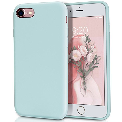 MILPROX Compatible iPhone 7, Compatible iPhone 8, Liquid Silicone with Microfiber Cloth iPhone 7 Case/iPhone 8 Case - Mint