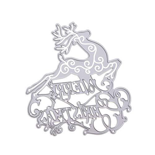 Mikiya Frohe Kerstmis meurt sjabloon DIY scrapbooking reliëf papier kaart decoratie