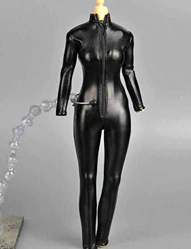 Kleding Model 1/6 Schaal Actie Figuur Kleding Pak Zwart Vrouwelijke Jumpsuit Leer Korset voor 12 Inch Pop Accessoires