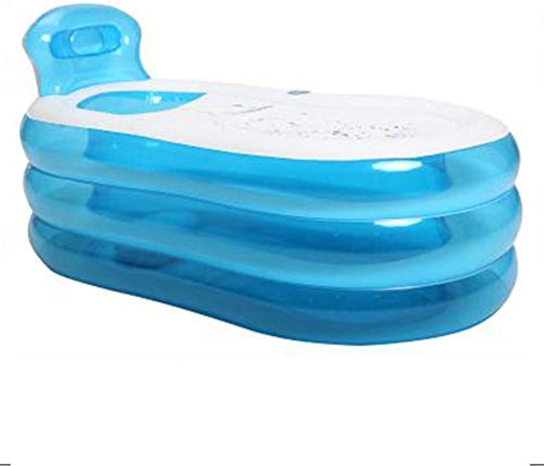 LEGOUGOU Doppelte aufblasbare Badewanne Thick Home Paare Badewanne Adult Folding Badewanne Groe Badewannen knnen sitzen Füe PVC-Material blau zu sitzen Schaumbad (Größe   130  70  45cm)