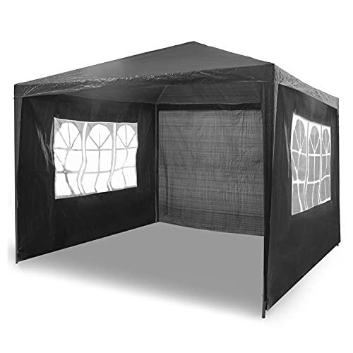 Activa Luxury Garden Steck Pavillon 3x3 m wasserdicht inkl. Tasche UV-Schutz 30+ Faltpavillon Gartenzelt Partyzelt Pop-Up Stecksystem Pavillion Vorzelt