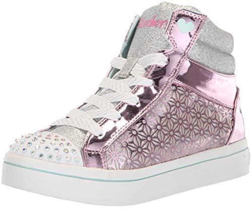 Skechers Mädchen TWI-Lites-Glitter-ups Hohe Sneaker, Pink (Pink/Silver Pksl), 35 EU