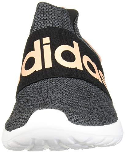 adidas Women's Lite Racer Adapt Running Shoe, black/glow Pink/Grey, 11 M US 3