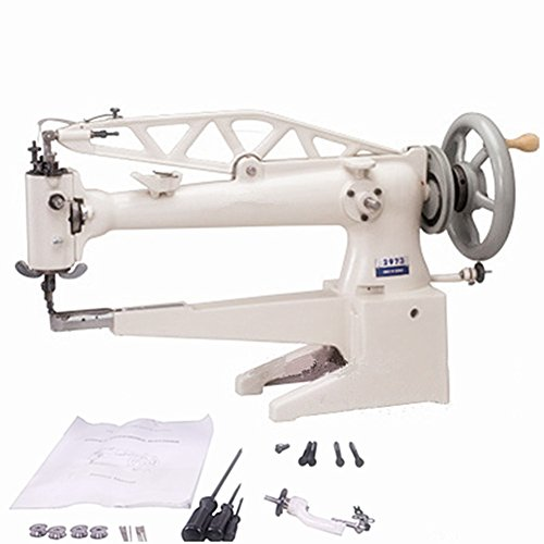 YEQIN 2973 Cylinder Long Arm Patcher Sewing Machine Shoe Leather Boots Repair Machine-Long Arm-460mm (Table Stand Motor Not Included)