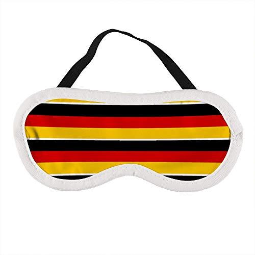 Draagbaar oogmasker voor mannen en vrouwen, Duitsland Vlag Het beste slaapmasker voor reizen, dutje, geven u de beste slaapomgeving
