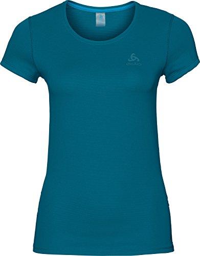 Odlo Active F-Dry Light T-Shirt à Manches Courtes pour Femme Bleu Sarcelle Taille XL