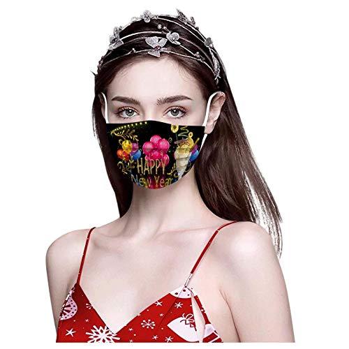 RUITOTP 2021 Frohes neues Jahr 10/20/30/50/100pc Frauen Männer Beschützer Einweg Mode niedlich Print atmungsaktive Gesicht Schal