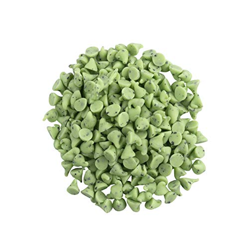 OliveNation Mint Baking Chips, Minty Flavored Green Chips for Baking, Topping, Decoration, Snacking - 1 pound