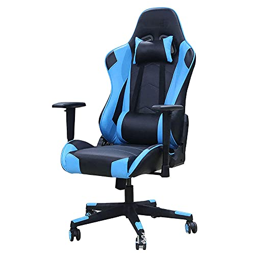 Silla para juegos de altura ajustable silla ejecutiva Gamer silla para computadora ejecutiva Oficina Home Desk Swivel Office Sillones de oficina - azul