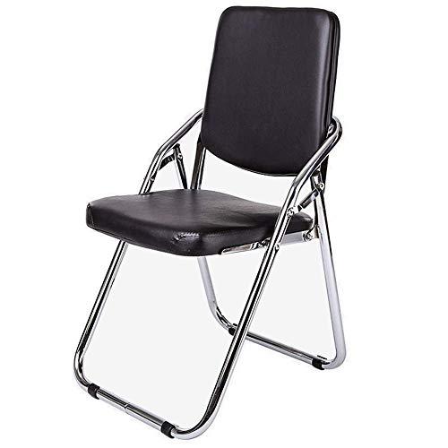 LULUTING Silla Plegable Silla Silla de Oficina Ordenador portátil de diseño Simple cómodo Negro 38 × 41 × 86.5cm