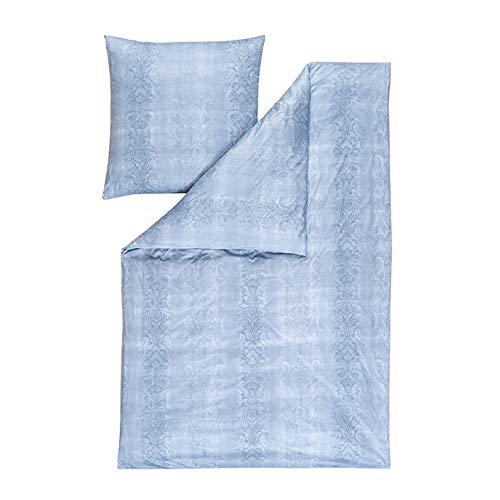 Estella Mako Interlock jersey beddengoed 2-delig dekbedovertrek 135 x 200 cm kussensloop 80 x 80 cm atelier zilver