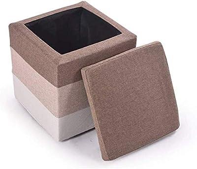 HxLxP: 46 x 43 x 43 cm Quadrato Native Home 10023666/_204 Pouf a Forma di Cubo 2 in 1 Rosso-Blu Tavolino /& Sgabello