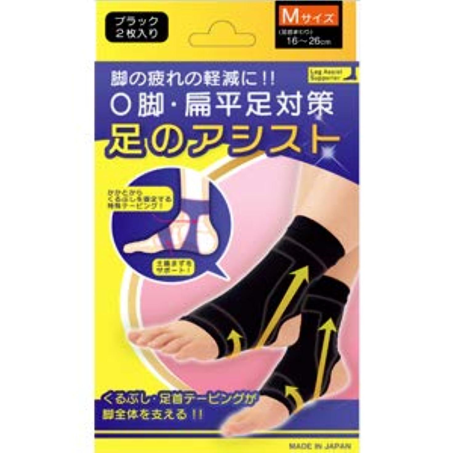 受粉するリズム回転する美脚足のアシスト ブラック 2枚入り Mサイズ(足首まわり16~26cm)