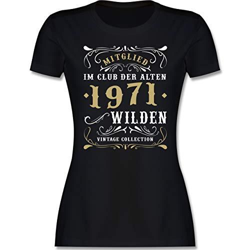 Geburtstagsgeschenk Geburtstag - Mitglied im Club der Alten Wilden 1971 - L - Schwarz - alte schachtel Geburtstag 50 - L191 - Tailliertes Tshirt für Damen und Frauen T-Shirt