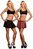 Dreamgirl Women's Schoolgirl/Gangster Reversible Skirt, Multi, Medium