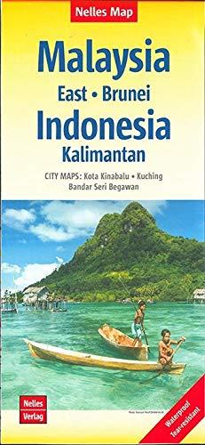 Nelles Map Landkarte Malaysia: East - Brunei - Indonesia: Kalimantan: 1:1,5 Mio   reiß- und wasserfest; waterproof and...