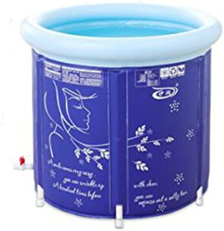 Flashing- PVC Raw Materials Folding Tub,Adult Tub Inflatable Bathtub,Double Drainage Design Bath Barrels ( color   No cover , Size   6565cm )