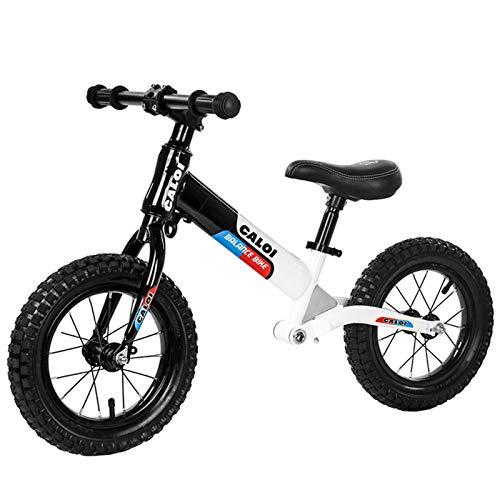 BSWL Bicicleta De No Pedal para Niños, Adecuado para Niños De 2 A 6 Años, Entrenamiento De Caminatas Bicicleta De Bicicleta Bicicleta De Competición Profesional,Negro