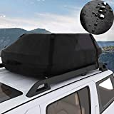 Miageek Waterproof Cross Country Car Roof Top Carrier Water Resistant Non Slip Soft Rooftop Travel Cargo Bag Storage for Any Car Van or SUV/with Straps (S)