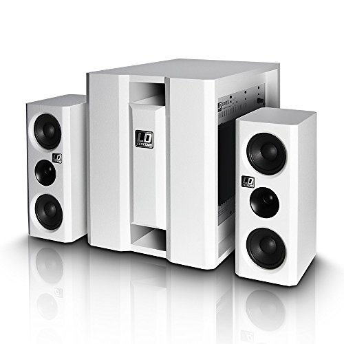LD Systems LDDAVE8XSW Dave Serie Multimedia System (20,3 cm (8 Zoll), 117 dB/mW, aktiv) weiß