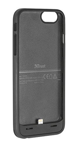 Trust Urban Batta Custodia con Batteria 4600 mAh per iPhone 6 E 6S Plus, Nero